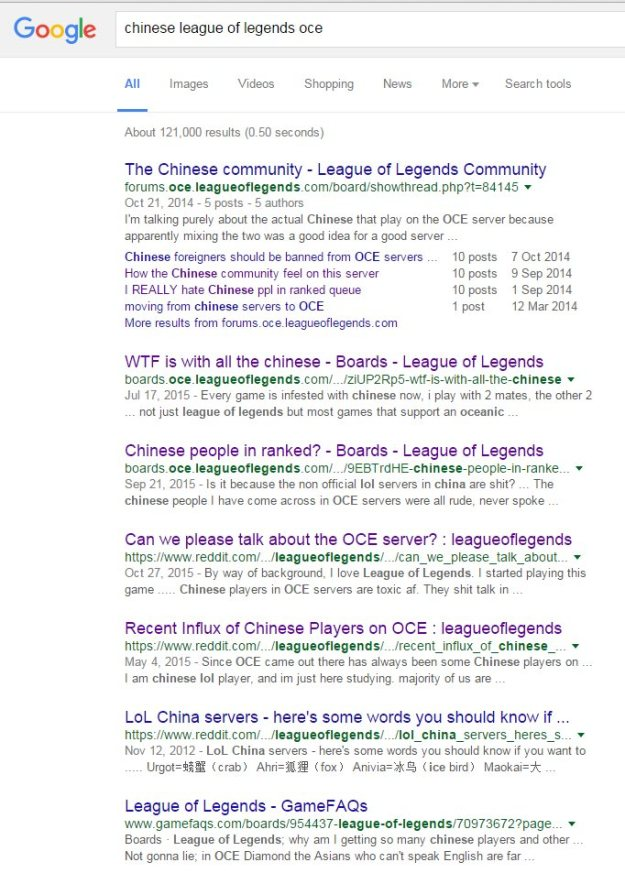 Google search, League of Legends China